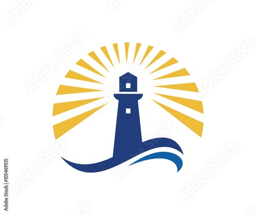 Lighthouse logo Wall mural
