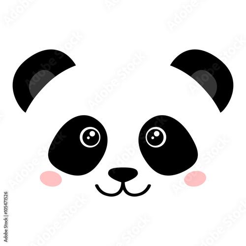 Photo  Cute panda face