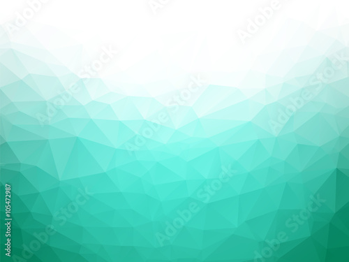 Canvastavla geometric emerald texture background