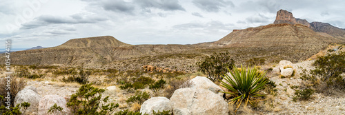 Autocollant pour porte Texas Guadalupe Mountains Texas