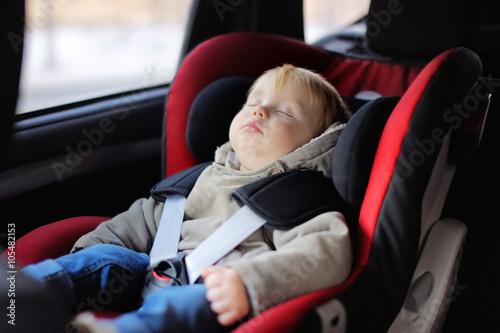Toddler Boy Sleeping In Car Seat
