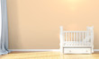 Modern empty children's room . 3D render