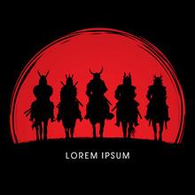 Silhouette, Samurai Warrior Ri...