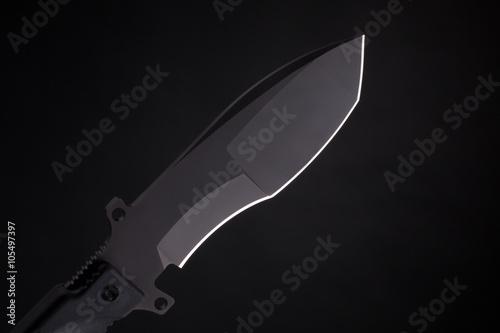 Pocket knife on black Poster
