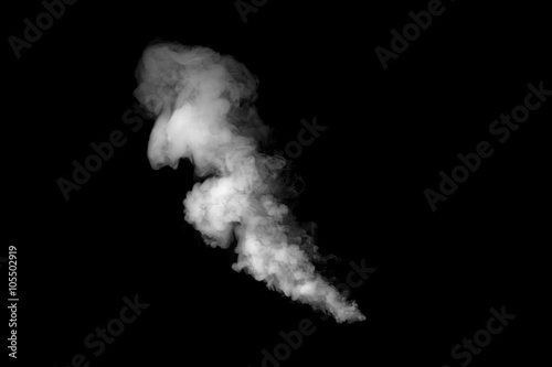 Cuadros en Lienzo close up of steam smoke on black background