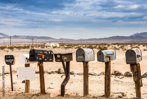 Papiers peints Route 66 Old US Mailboxes along Route 66