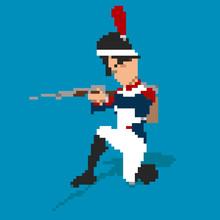 Napoleonic Soldier Pixel Art