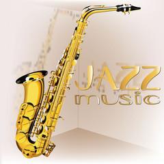 Panel Szklany Do pokoju chłopca raster version saxophone Jazz music