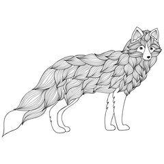 Fox , dog or wolf of the waves