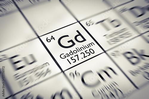 Focus on rare earth Gadolinium Chemical Element Wallpaper Mural