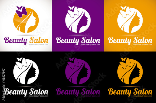 Logo Salon Coiffure Bien Etre Esthetique Buy This Stock Vector And