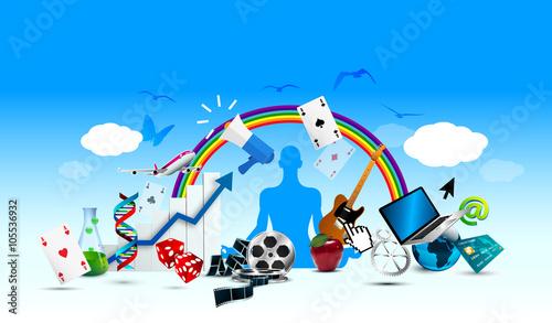 Photo oggetti, sfondo, fantasia, attività, divertimento