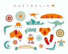 Australia Icon Set - Vector Il...