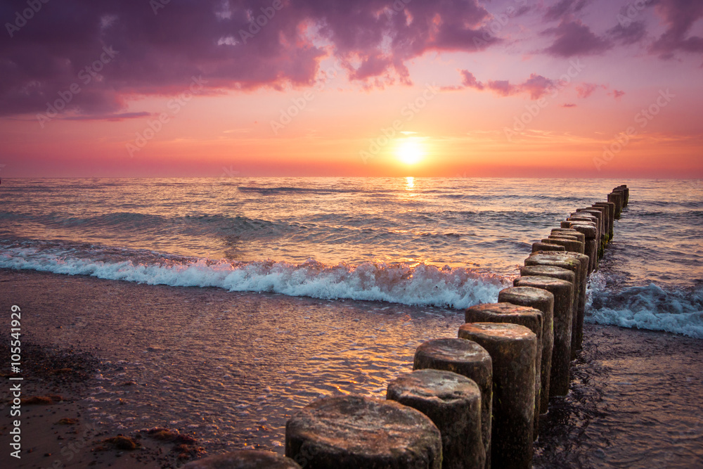 Fototapeta Sonnenuntergang am Strand