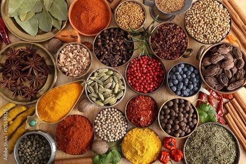 Printed kitchen splashbacks Spices Indian spices.