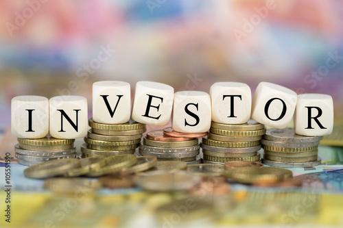 Fotografía  Investor auf Münzen