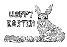 Happy Easter Typography With E...