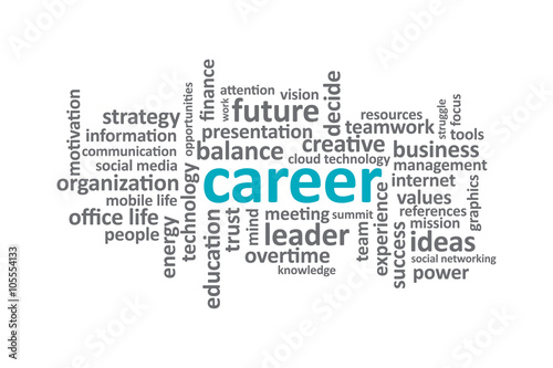 Career - Typography graphic work, consisting of important