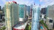 Aerial video flying by Brickell Miami FL