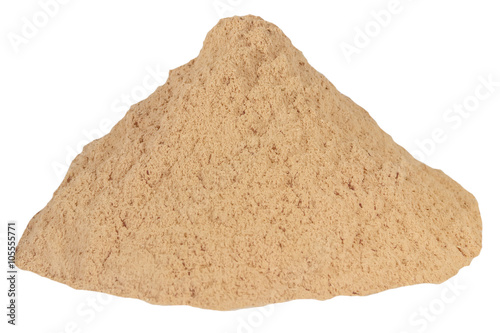 Fotografie, Obraz  Small sawdust pile brown isolated white background