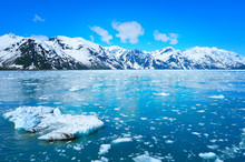 Glacier And Beautiful Nature Of Alaska