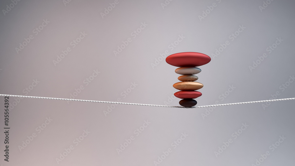 Fototapeta concept of balance and stability