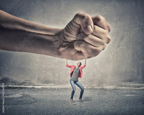 Obraz na płótnie Woman undergo authority power