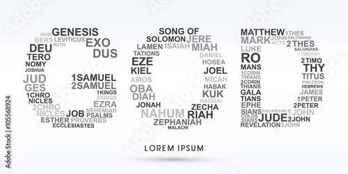 Obraz na płótnie GOD, designed using bible words genesis to revelation graphic vector