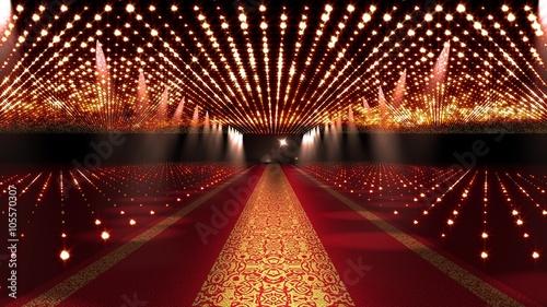 4K Red Carpet Festival Glamour Scene Animation Canvas Print