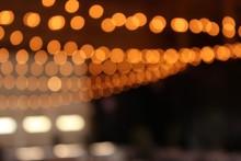 String Lights Bokeh Effect