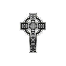 Simple Black Celtic Cross With...