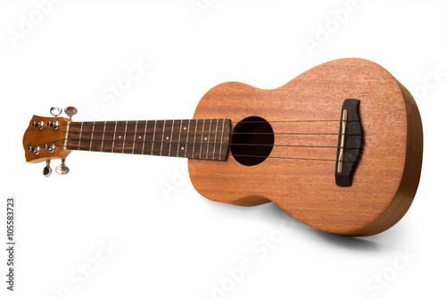 Obraz na plátně ukulele hawaiano su fondo bianco