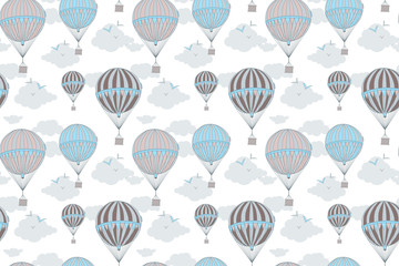 Tapeta Background with hot air balloons