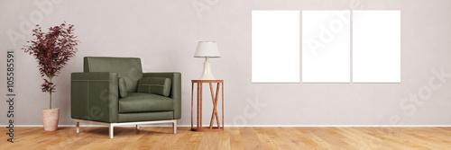 Cuadros en Lienzo Leinwand Triptychon an Wand im Wohnzimmer
