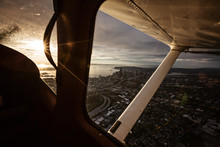Sunsetview From Plane – Seattle