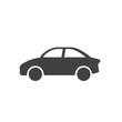 car icon, car pirctogram flat icon in black color