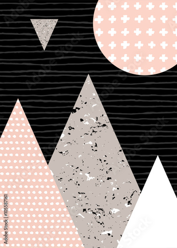 Tuinposter Geometrisch Abstract Geometric Landscape