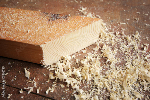 Fotografie, Obraz  Timber and wood chips background