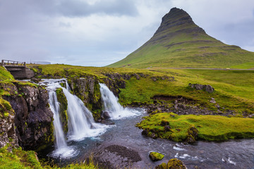 Iceland - country of waterfalls  and mountains