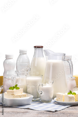 Poster Dairy products Set from dairy products