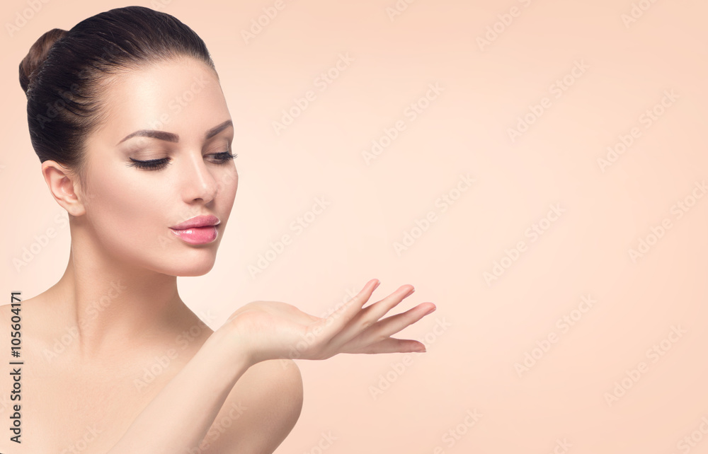 Fototapeta Beauty spa woman with perfect skin