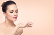 canvas print picture - Beauty spa woman with perfect skin