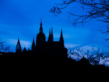 Prague Castle Towers Silhouett...
