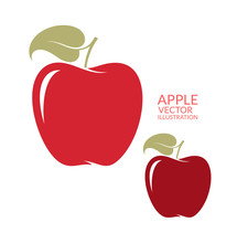 Red  Apple. Isolated Fruit On ...