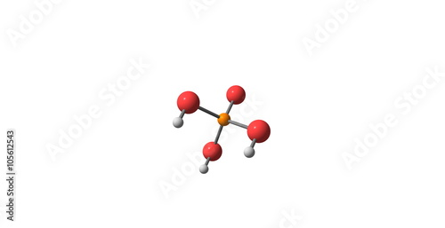 Phosphoric acid molecular structure isolated on white Canvas Print