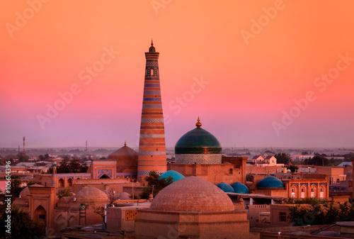 Minaret and madrassah of Islam- Hodge in the old Khiva