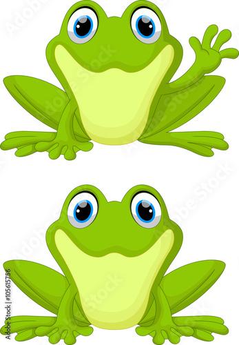 Fotografija Cute frog cartoon