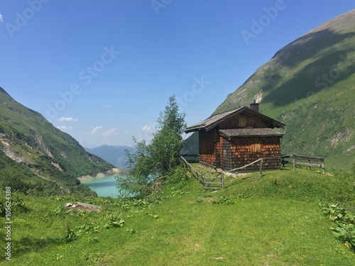 Photo Stands Europa House in the Swiss mountains