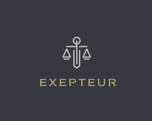 Law Firm Line Trend Logo Icon ...