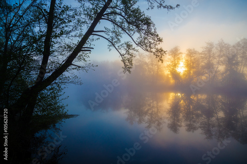 Cadres-photo bureau Riviere Morning fog on a river